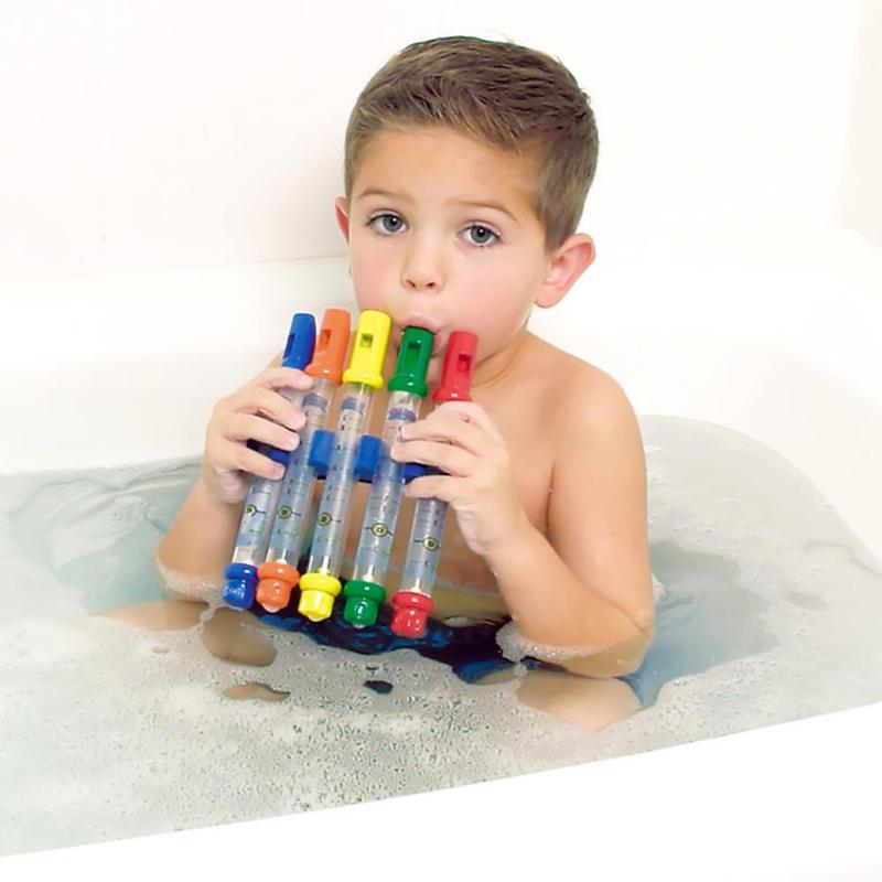 1pc Water Flute Toy Kids Children Music Shower Bath Tub Tunes Water Flute Colorful Toys Bath Music Sounds Baby Shower Bath Toy