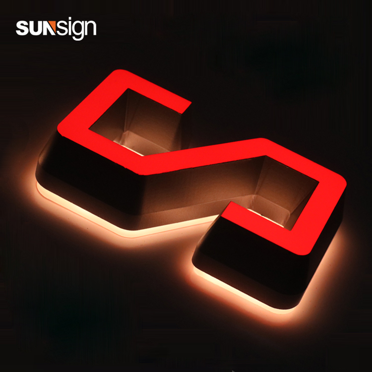 3D Colorful Front Illuminated Acrylic LED Sign Letters