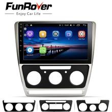 Funrover 2 din Auto radio Multimedia vedio player Android 8.0 di Navigazione GPS no dvd Per Skoda Octavia 2008-2013 UN 5 A5 Yeti Fabia
