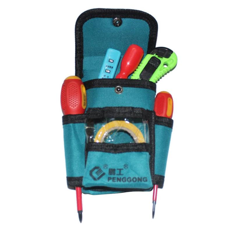 Waterproof Tool Bag Electrician Waist Pack Hardware Toolkit Pocket Pouch For  Car Repair, Woodworkers  600D Oxford Material