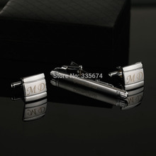 CT-011B Personalized Creative Tie Clip Cufflinks Set Men French Silver Square Tie clips Cuff links Man Fashion Zinc Alloy Shirt rj free shipping silver star wars cuff links robot bb8 r2d2 fighter knight stormtrooper tie clips cufflinks women men jewelry