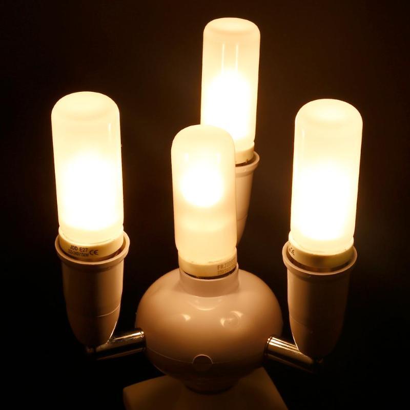 Active Adjustable Lamp Base Lamp Holder E26/e27 1 To 3/4/6 E26/e27 Lamp Socket Splitter Led Bulb Adapter Light Extented Converter Lamp Bases