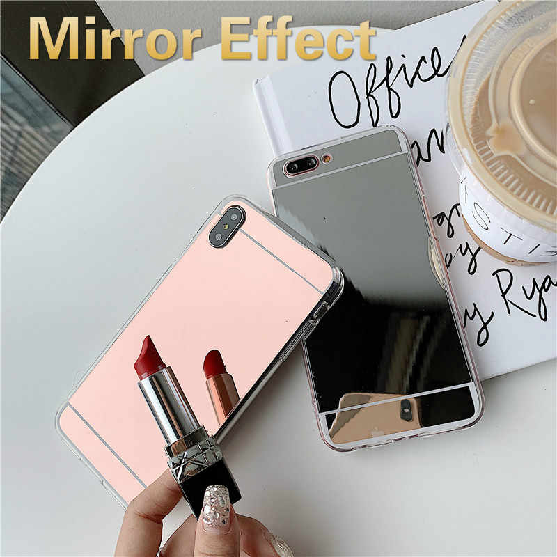 Fashion Soft Silicone Case for Huawei Y7Pro 2019 Enjoy 9 Nova 3i Honor 8C 8X 7A 7C 7X 7S 10 TPU Mirror Electroplating TPU Cover