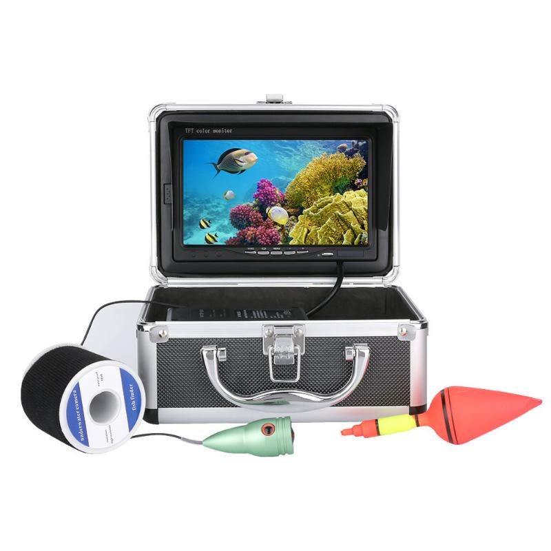 1000tvl Underwater Fishing Video Camera Kit 6 PCS LED Lights with7 Inch Co1000tvl Underwater Fishing Video Camera Kit 6 PCS LED Lights with7 Inch Co