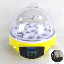 220V Mini 7 Egg Automatic Incubator Poultry Incubator Brooder Digital Temperature Hatchery Egg Incubator Chicken Duck Bird стоимость
