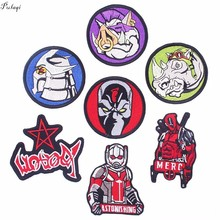 Pulaqi Star Wars Patch On Clothes Totoro Deadpool Embroidered Iron On Patches For Clothing Teenage Mutant Ninja Turtles Decor F все цены