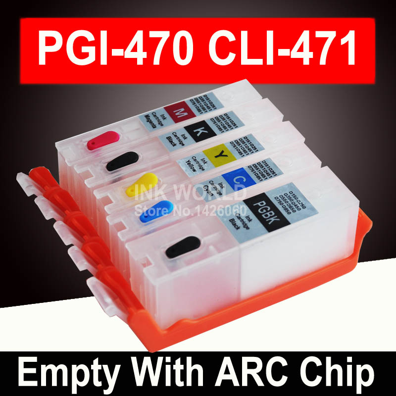For Canon PIXMA TS 5040 TS5040 MG5740 PGI470 470PGBK Empty Cartridge Printer Refillable Ink Cartridge Resueable Permanent Chip