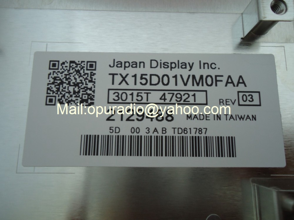 Японский дисплей inc. TX15D01VM0FAA модуль lcd для экрана 2129488 для mercedes C серии автомобильное аудио-Радио Навигация