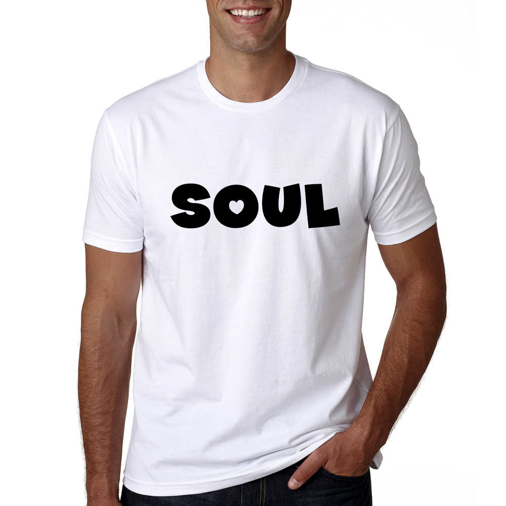 e84a53ffc59 ... Soulmates T Shirt Couples T-shirts Funny Matching Letter Wedding Top Tee  Couple Tshirt Cotton ...
