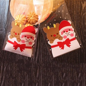 Image 4 - Best 100 Pcs Candy Bags Cute Sachet Bag Pattern of Santa Claus Bag Pouch for Candy Biscuit Chocolate Candy Sweets Candy Gift B