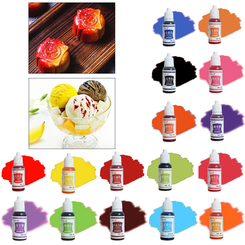 Color Pigment Edible Cake 1PC Food Macaron Coloring Ingredients Cream 15ML Baking Cake Edible Pigment Fondant(China)