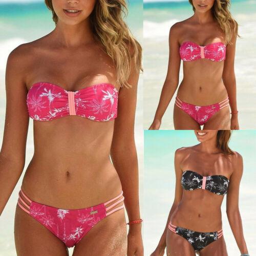 2019 Hot Style Women Sexy Bikini Set Colorful Leaf Print Swimsuit Bathing Suit Beach Swimwear
