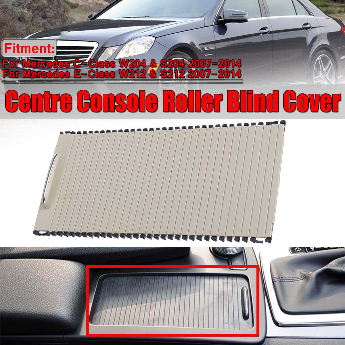 New Roller Blinds W212 Center Console Cover For Benz C/E-Class W204 S204 E CLass S212 Car Water Cup Rack Roller A20468047089051New Roller Blinds W212 Center Console Cover For Benz C/E-Class W204 S204 E CLass S212 Car Water Cup Rack Roller A20468047089051