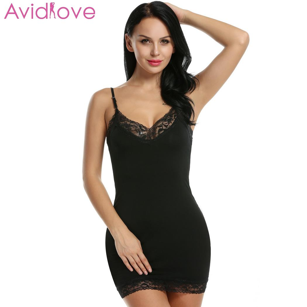 Avidlove Women Nightgown Lace Plus Size Summer Sexy ...