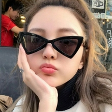 Fashion Polarized Sungalsses Ladies Sexy Cat Eye Sunglasses Small Black White Tr