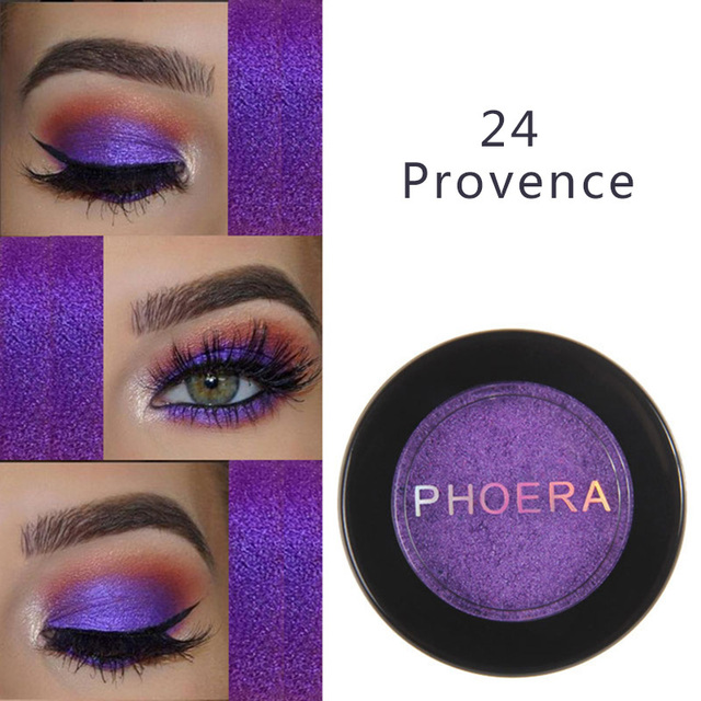 PHOERA Metal Eyeshadow Makeup Palette Red Black Color Glitter Eye Shadow Natural Eyes Make Up maquillage TSLM2