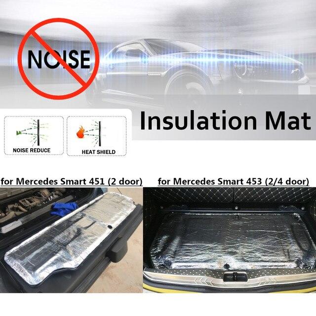 Auto Glas Fibre Sound Isolierung Proofing Trittschalldämmung Geschlossen Schaumstoff Firewall Wärme Matte Aluminium für Smart 451 453 Haube Motor