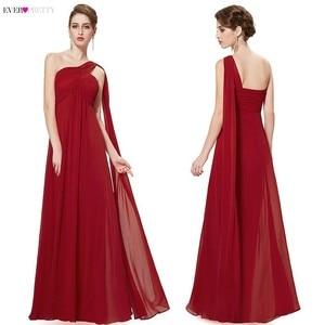 Image 3 - Kleider Für besondere Anlässe EP09816 A linie Einer Schulter Royal Blue Lange Abendkleider 2019 Neue Ankunft Formale Kleider Fit Pergant