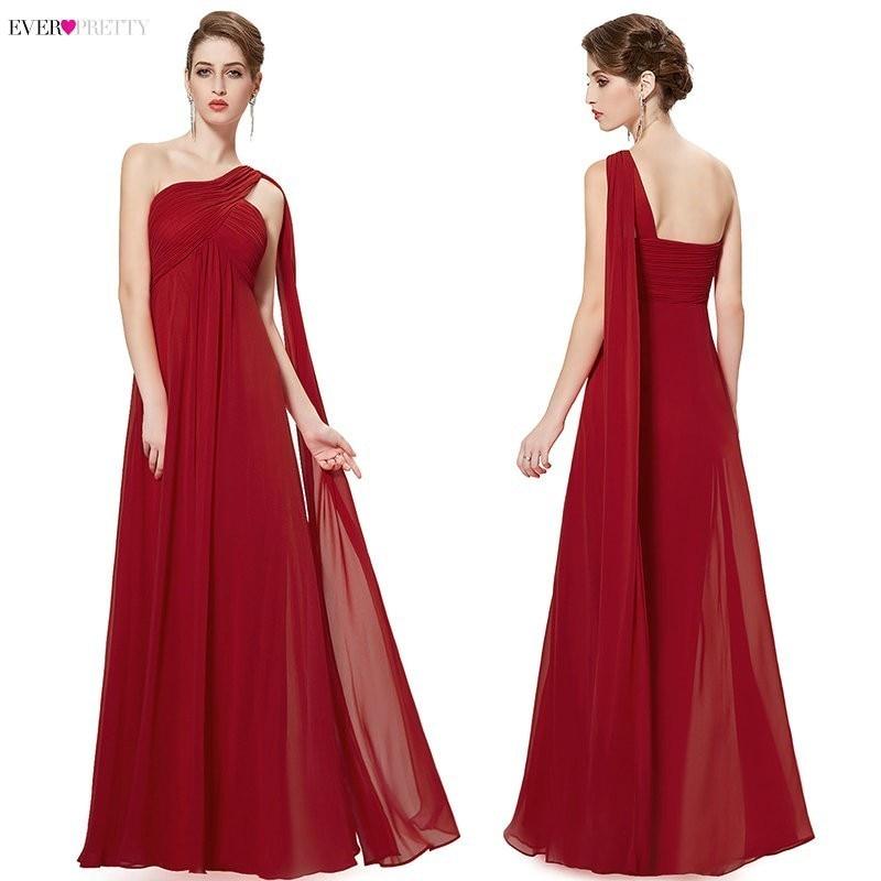 Ultimate SaleSpecial Occasion Dresses EP09816 A-line One Shoulder Royal Blue Long Evening Dresses 2019 New Arrival Formal Dresses Fit Pergant