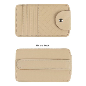 Image 4 - Car Auto Sun Visor Point Pocket Organizer Pouch Bag Card Glasses Storage Holder Car styling
