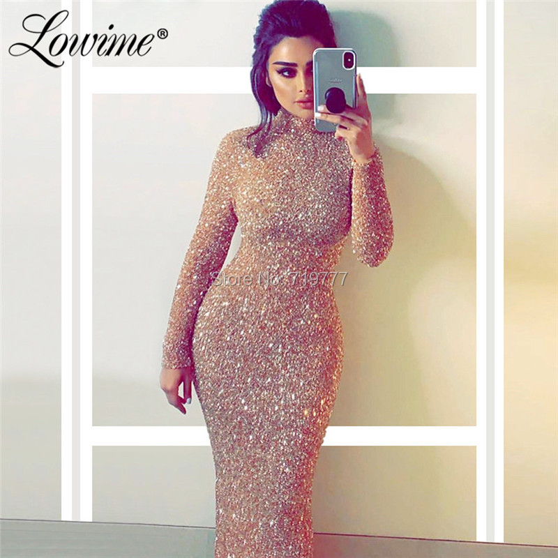 Simple Mermaid   Evening     Dress   High Neck Formal Kaftans Turkish Arabic Dubai Party Gowns Robe De Soiree Shiny Fabric Prom   Dresses