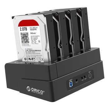 オリコ 6648US3 4-ベイ HDD ドッキングステーションの Usb 3.0 2.5/3.5 インチ SATA 外部ハードドライブドックオフラインクローンドッキングステーション - SALE ITEM パソコン & オフィス