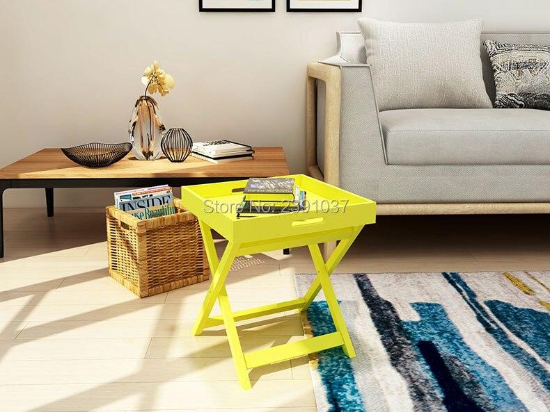 American style Creative folding small tea table Scandinavian inswind modern simple household furniture table living room sofa