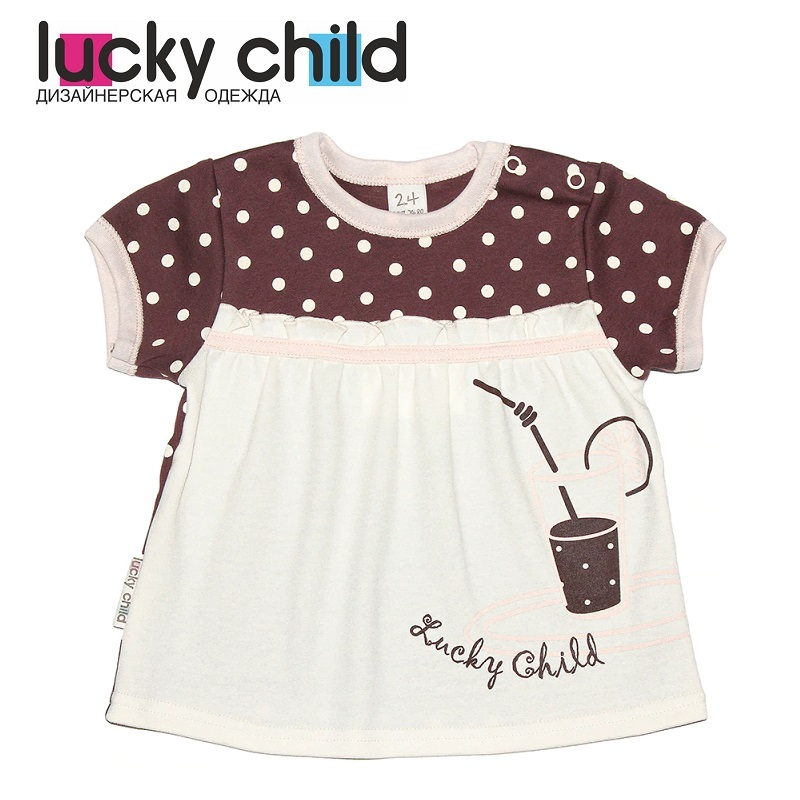 T Shirts Lucky Child for girls 23-26 (3M-18M) Top Baby T Shirt Kids Tops Children clothes t shirts lucky child for girls 54 12 56 26 shirt children clothes
