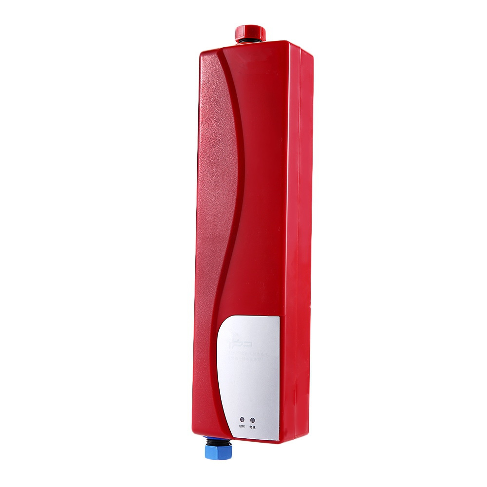 220V 3000W Electric Water Heater Instant Tankless Water Heater Indoor Water Heating EU Plug For Shower Kitchen Bathroom