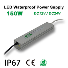 150W Waterproof Power Supply,LED Strip Drive,IP67,DC12/24V,Adapter transformer,Indoor & Outdoor Use,for Linear lighting 24v dc linear actuators set with power supply control box and handset for bed sofa chair use 1set