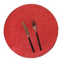 PP Wire Woven Placemat Childrens Table Round Oval cutlery tableware mat  Kitchen Dinner Handmade Pad