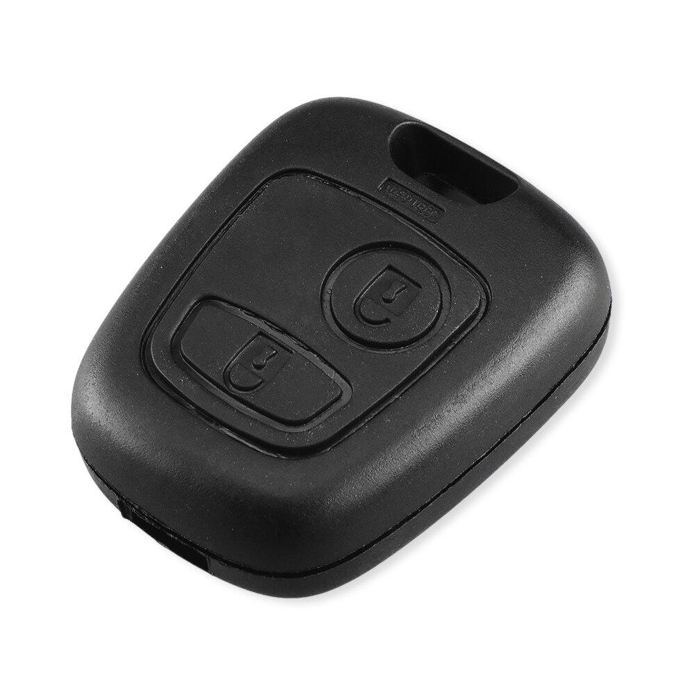 Dandkey сменный Футляр для ключей дистанционный Брелок оболочка для Citroen для peugeot для Toyota Aygo 2 Кнопка чехол для ключа без лезвия без логотипа