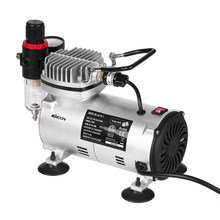 KKmoon Power Tools Spuiten Spray Mini Air Compressor Professionele Gravity Feed Dual-Action Airbrush Zuiger Compressor(China)