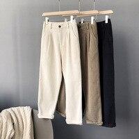 Mooirue Summer Trousers Woman Work Ol Wear Corduroy High Thin Trousers Loose Women Pantalon Bottom