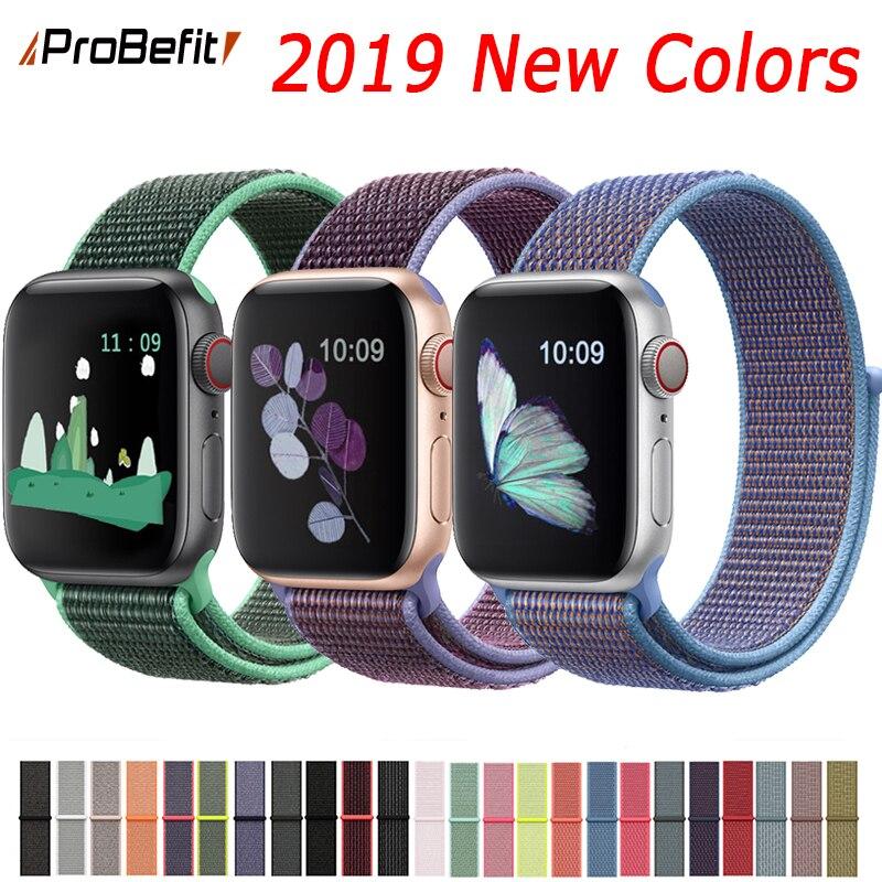 Band Voor Apple Horloge Serie 3/2/1 38 MM 42 MM Nylon Zachte Ademend Vervanging Band Sport loop voor iwatch serie 4 40 MM 44 MM