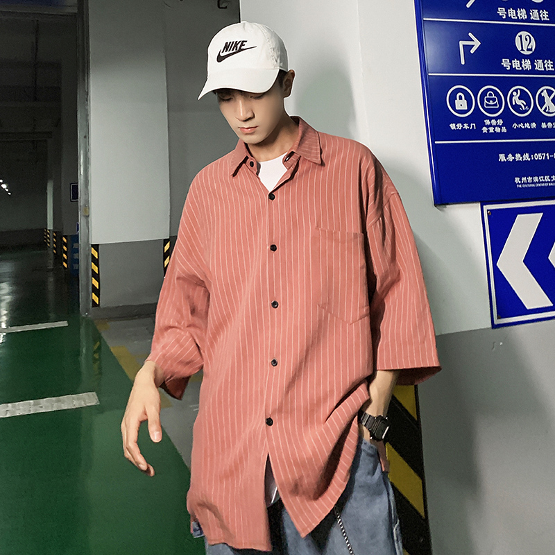 2019 Spring And Summer New Korean Fashion Cotton Hip Hop Lovers Plaid Cute Dating Casual Short-sleeved Shirt