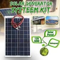30W 12V Semi Flexible Solar Panel CLAITE Battery Charger + Cable For RV Boat Motorhome for trickle battery products