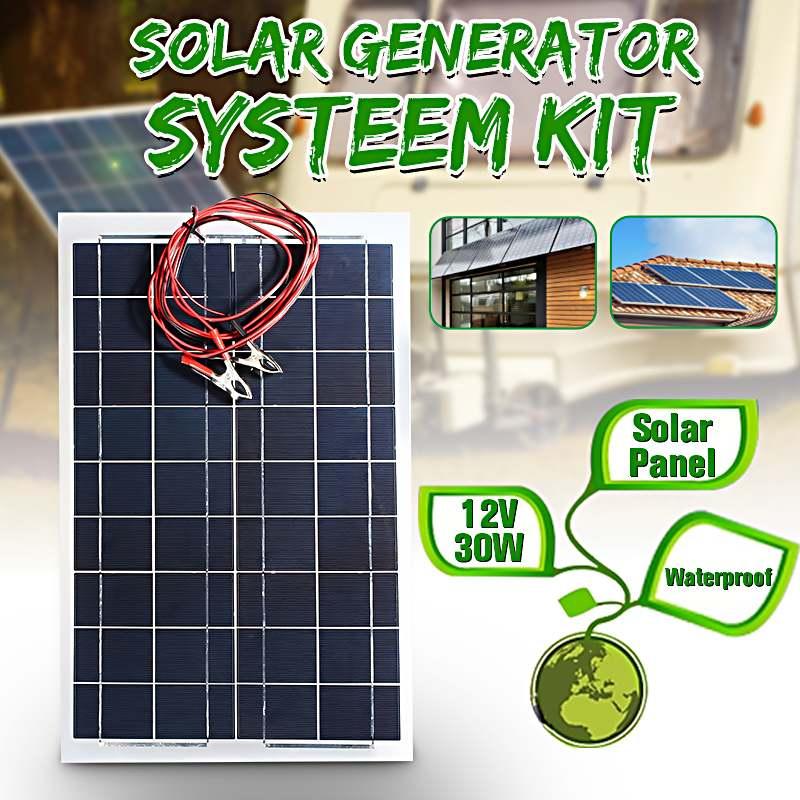 Chargeur de batterie + câble de panneau solaire Semi Flexible de 30 W 12 V pour le camping-car de bateau de RV pour des produits de batterie de trickle