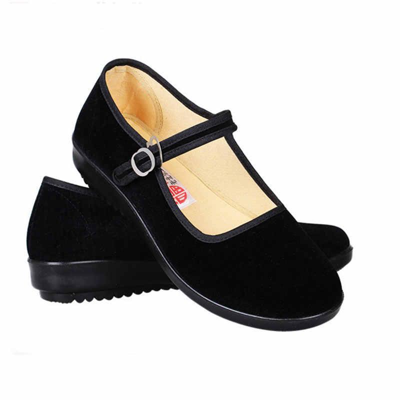 black mary jane flat shoes