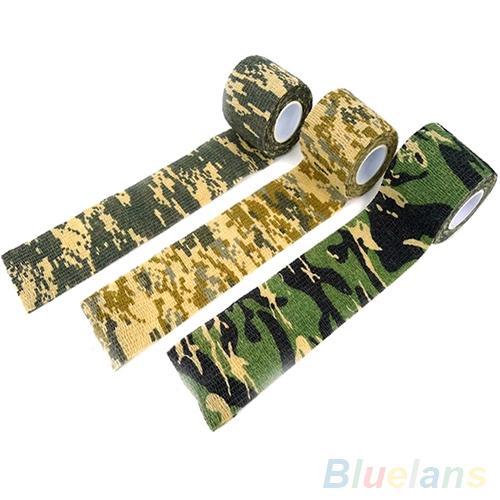 Di nuovo Modo di 4.5m x 5cm Camo Nastro di Caccia di Campeggio Trekking Outdoor Camouflage Stealth Strumento