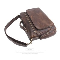 Men Single Shoulder Briefcase bag Genuine Portable laptop Package cowhide Leather Male bolsa feminina hand bag Men bags designer