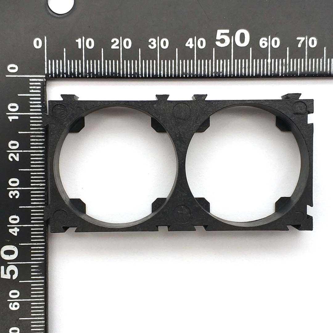 5 pièces 32650 2x support de batterie support cellule sécurité Anti Vibration supports en plastique pour 32650 Batteries