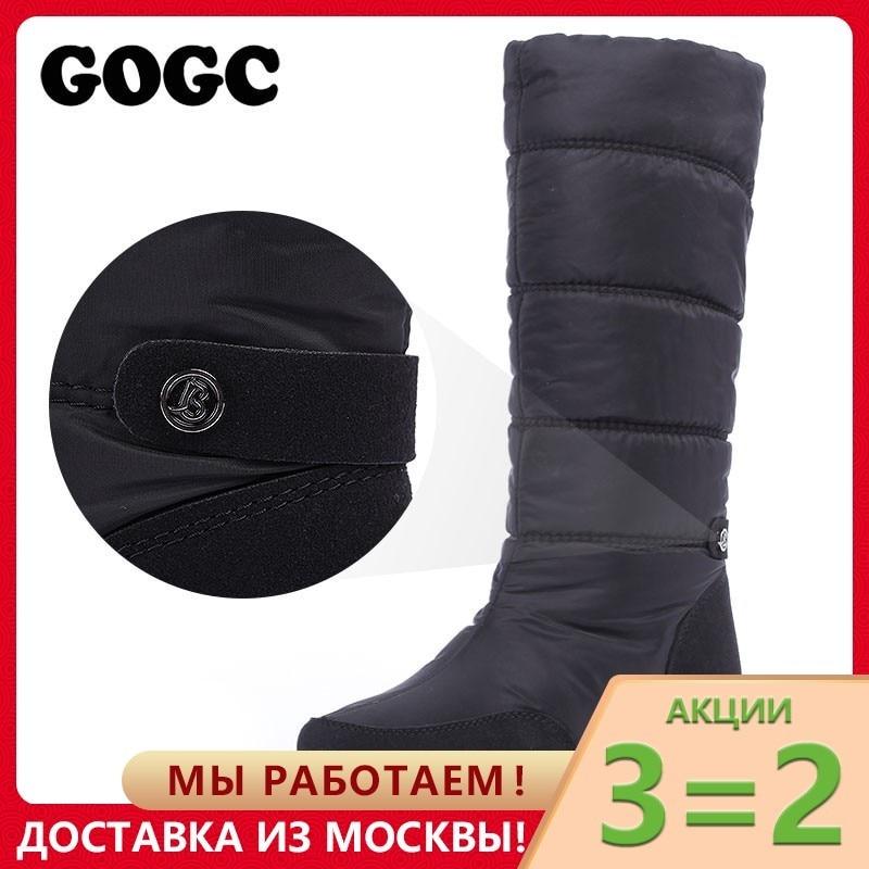 GOGC Winter Stiefel Frauen Wasserdichte Stiefel Schnee Warme Winter Schuhe Frauen Stiefel Plus Größe Einfach Tragen Desinger Frauen Hohe Stiefel 9894
