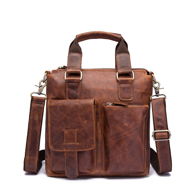 13 Casual&Business Briefcase Portfolio Crazy Horse Genuine Leather Handbag Men Shoulder Bag Mens Crossbody Messenger Bags13 Casual&Business Briefcase Portfolio Crazy Horse Genuine Leather Handbag Men Shoulder Bag Mens Crossbody Messenger Bags
