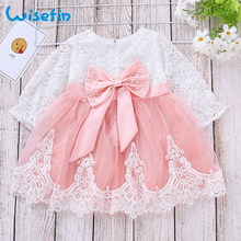 цена на Kids Dresses for Girls Dress Tutu vestidos Baby Girl Clothes Princess Dress Bow Party Birthday Toddler Girls Lace Dress P30