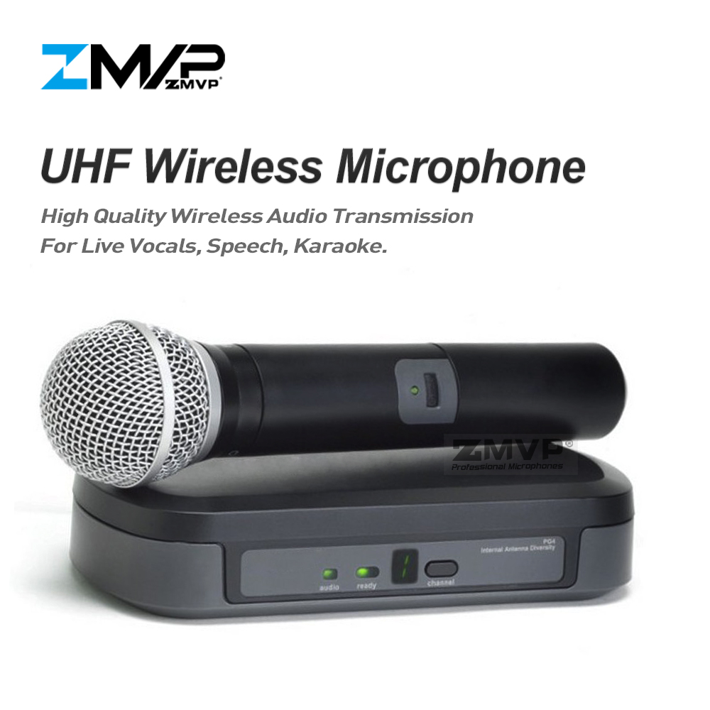 ZMVP P24-M58 UHF Professional Wireless Microphone System With M58 Handheld Transmitter Mic For Stage Live Vocals Karaoke Speech zmvp p24 m58 uhf professional wireless microphone system with m58 handheld transmitter mic for stage live vocals karaoke speech