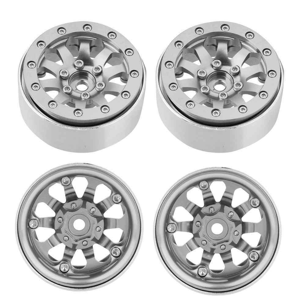 4 قطعة 10 حفرة أزياء سبائك Beadlock محور عجلات s لمعظم 1/10 RC حفارات Beadlock تصميم RC الزاحف محور عجلات