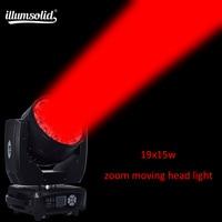 19x15 w светодиоды глаз пчелы перемещающаяся головка функция масштабирования dmx512 Дискотека Свет этапа