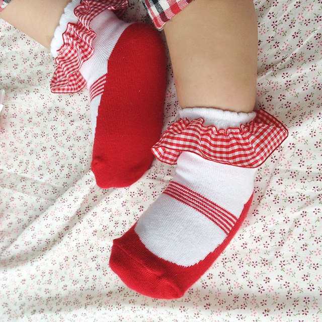 Lovely Red Lace Socks  5