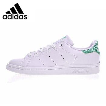 264ff7e29b1d5 Adidas Stan Smith Orijinal Kadın Kaykay Ayakkabı Beyaz ve Yeşil Hafif  Aşınmaya dayanıklı Nefes Sneakers # BZ0407